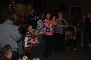 Worshipping Jesus at Lydia's 100 Day Celebration of successful bone marrow transplant and 100% cancer free, October 2013